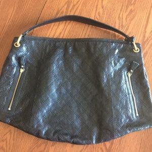 Antonio Melani- Large Black Handbag w/gold accents